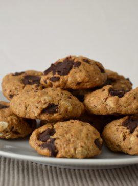 Bolachas de aveia com pepitas de chocolate - Receita Vegetariana