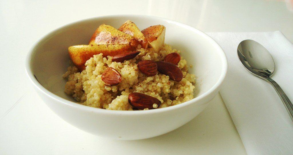 Compassionate Cuisine - Receitas vegetarianas - Taça de quinoa com pêra Rocha