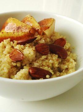 Taça de quinoa com pêra Rocha - Receita Vegetariana