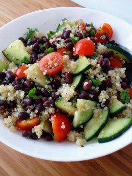 Salada de feijão adzuki - Receita Vegetariana