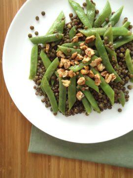 Feijão verde com lentilhas Dupuy e molho de mostarda - Receita Vegetariana