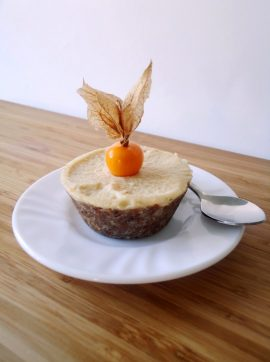 "Mini ""cheesecakes"" veganos de Physalis - Receita Vegetariana"
