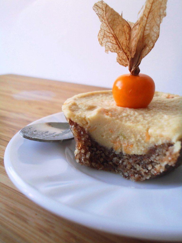 Compassionate Cuisine - Receitas vegetarianas - Mini Cheesecakes Veganos de Physalis