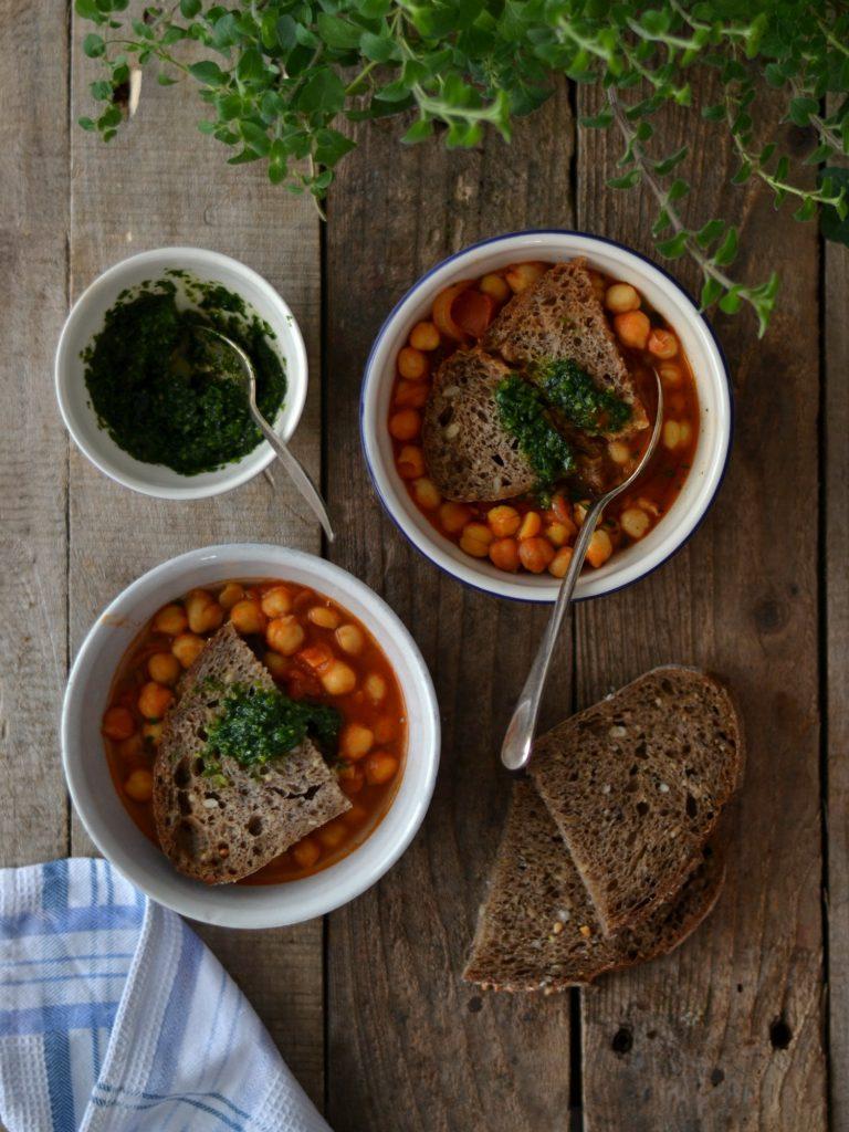 Compassionate Cuisine - Receitas vegetarianas - Açorda de grão e tomate