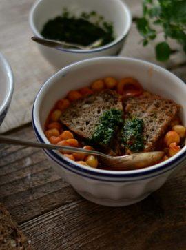 Açorda de grão e tomate - Receita Vegetariana