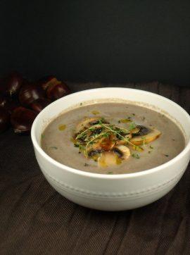 Sopa de castanhas e cogumelos - Receita Vegetariana