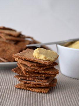 Crackers de sementes - Receita Vegetariana