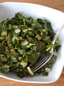 Salteado de couve - Receita Vegetariana