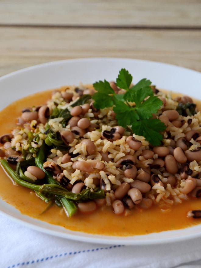 Compassionate Cuisine - Receitas vegetarianas - Arroz malandro com feijão frade