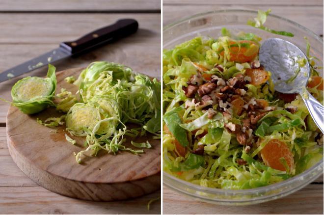 Compassionate Cuisine - Receitas vegetarianas - Salada de inverno de couve-bruxelas e tangerina