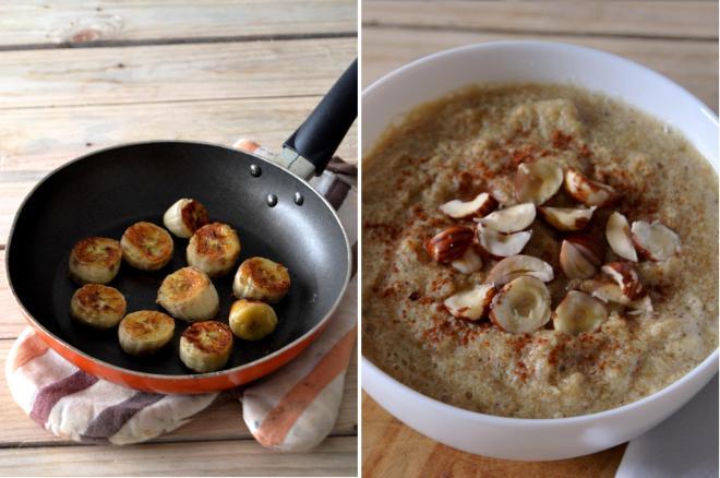 Compassionate Cuisine - Receitas vegetarianas - Papas de amaranto com banana caramelizada