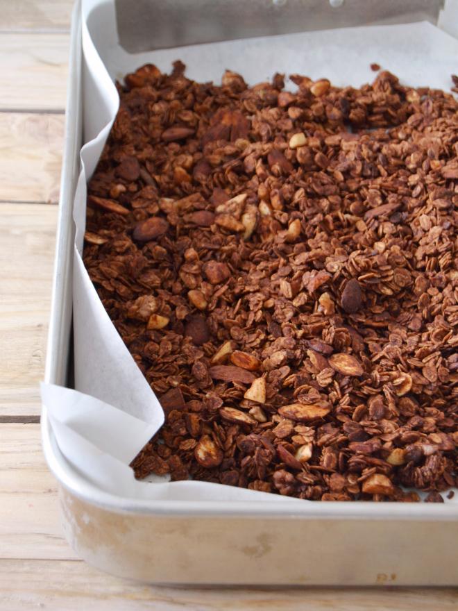 Compassionate Cuisine - Receitas vegetarianas - Granola de chocolate com frutos vermelhos