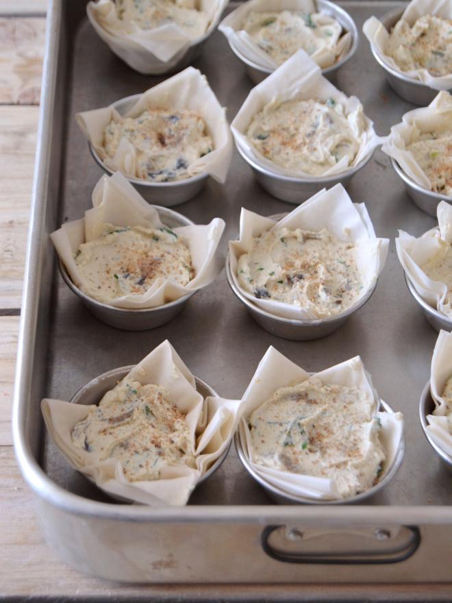 Compassionate Cuisine - Receitas vegetarianas -Mini quiches de espinafres e tofu