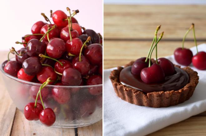 Compassionate Cuisine - Receitas vegetarianas - Tarteletes de chocolate com cerejas