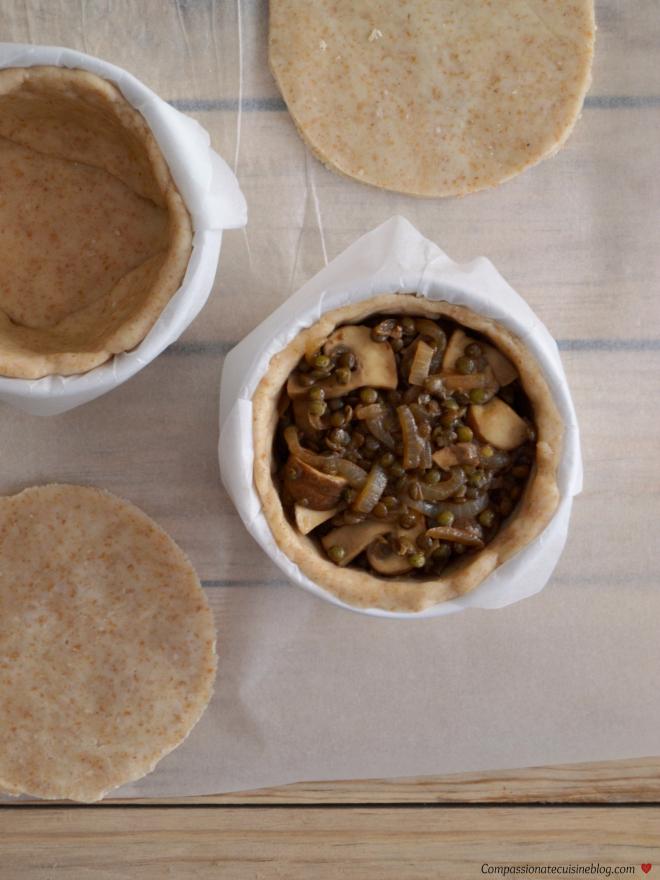 Compassionate Cuisine - Receitas vegetarianas - Sugestões para a Ceia de Natal - Tarte de cogumelos e lentilhas