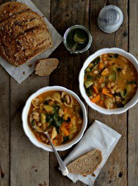 Comida de conforto e uma minestrone - Receita Vegetariana