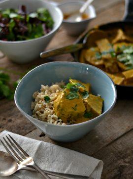 Caril de seitan + Semana vegetariana - Receita Vegetariana