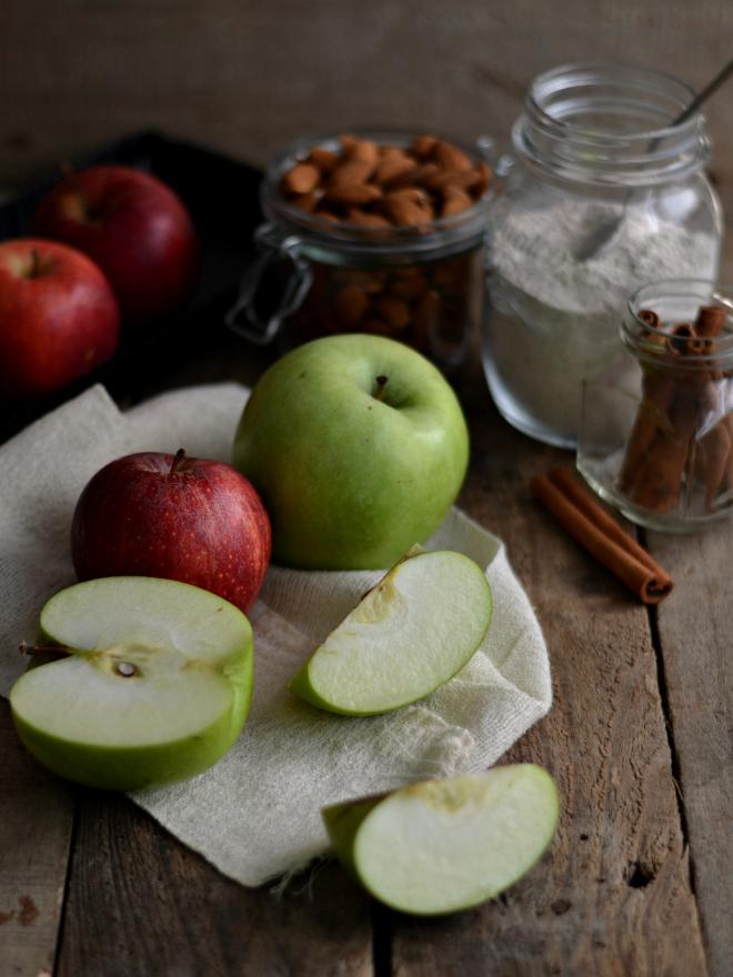 Tarte de maçã e amêndoa