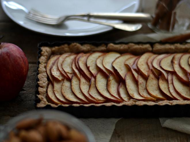 Compassionate Cuisine - Receitas vegetarianas - Tarte de maçã e amêndoa