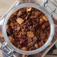 Granola de chocolate
