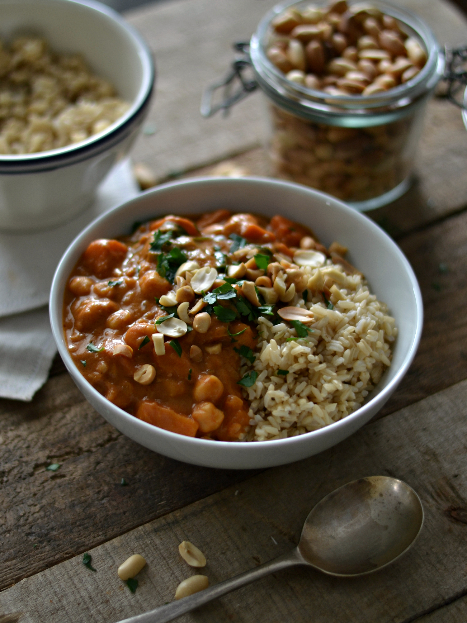 Peanut butter sweet potato stew