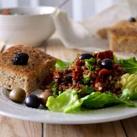 Salada de lentilhas com tomate seco