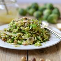 Salada de lentilhas e couve bruxelas
