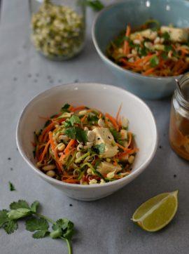A minha versão do Pad Thai - Receita Vegetariana