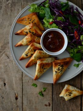 Chamuças de tempeh - Receita Vegetariana