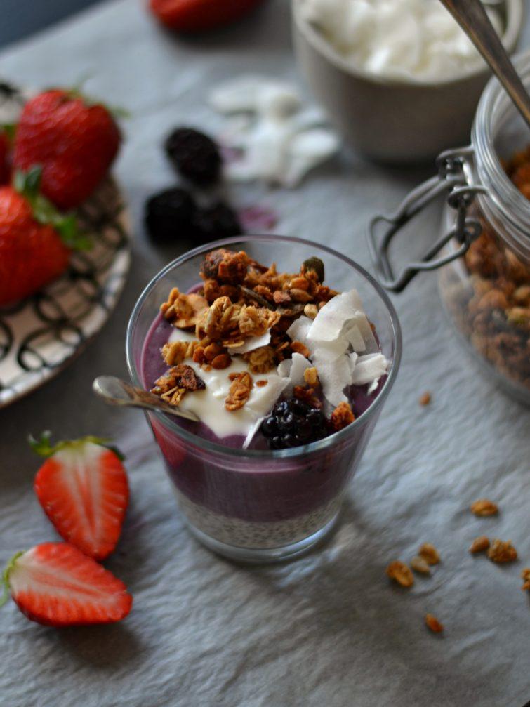 Batido de Morango, Amora e Iogurte