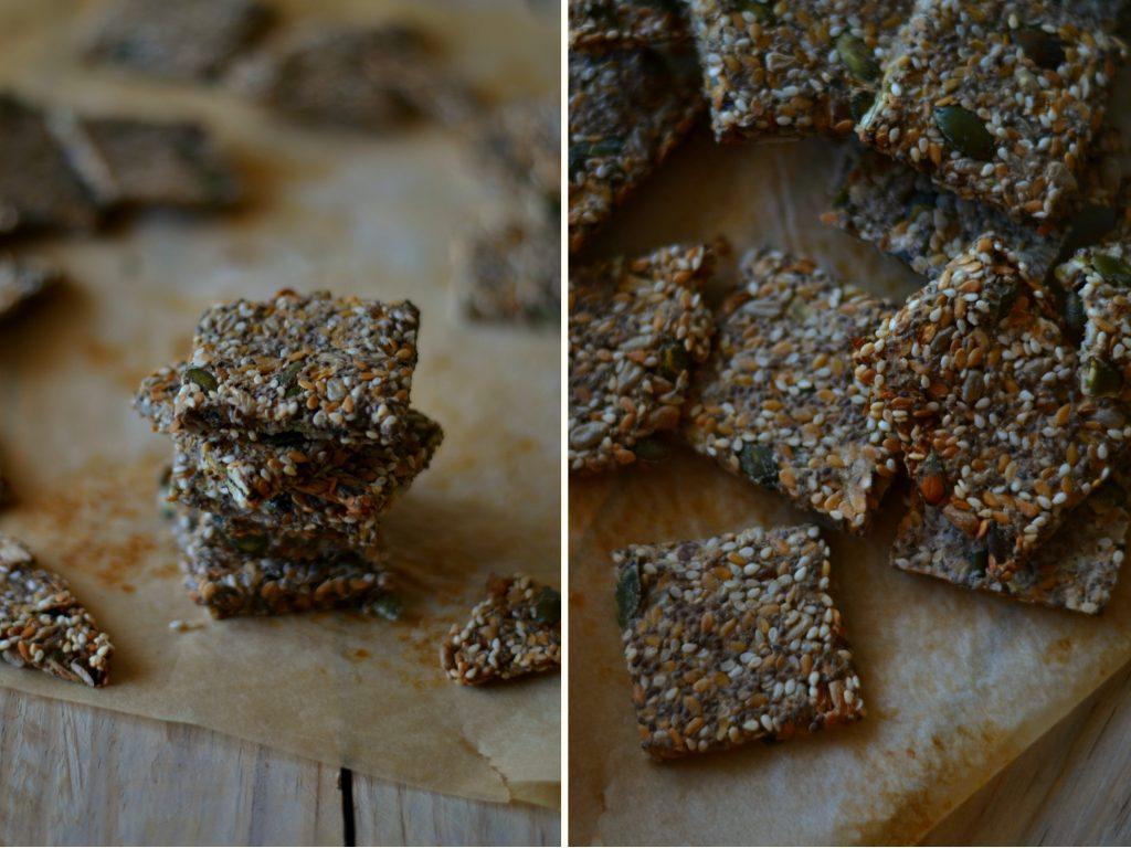 Compassionate Cuisine - Receitas vegetarianas - Crackers de Sementes