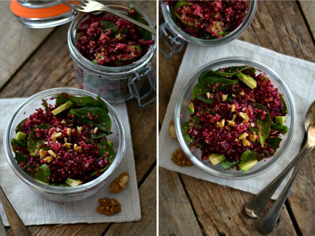 Compassionate Cuisine - Receitas vegetarianas - Snacks para Levar em Viagem - Salada de Quinoa e Beterraba