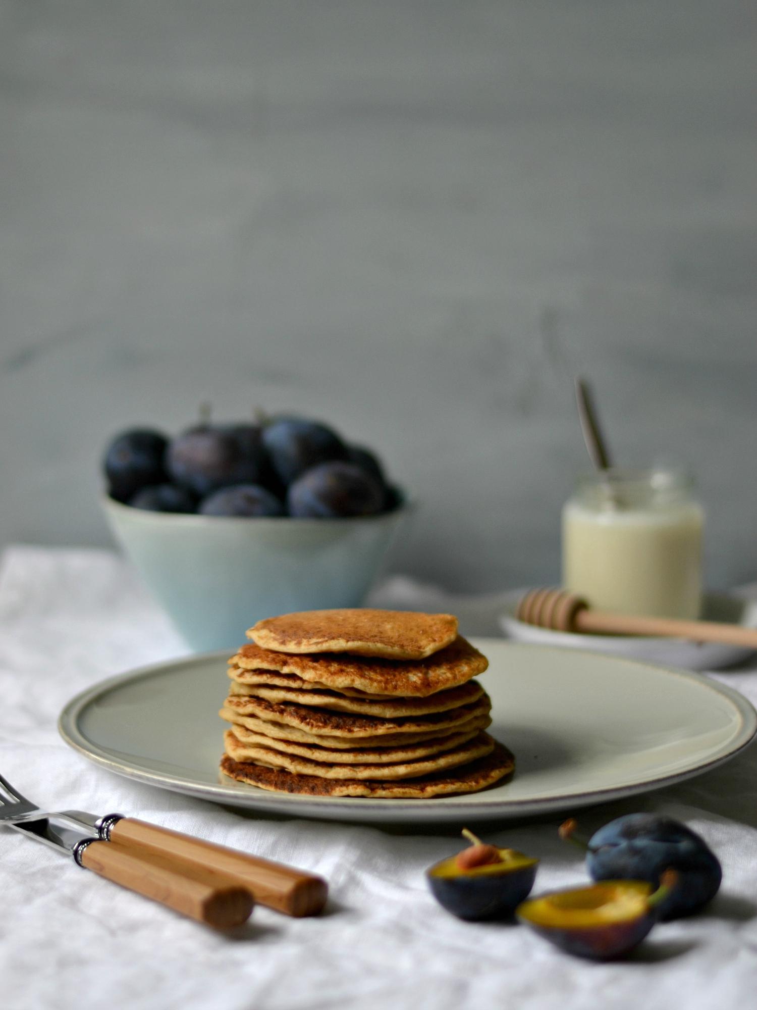 Compassionate Cuisine - Receitas vegetarianas - Panquecas Proteicas de Aveia
