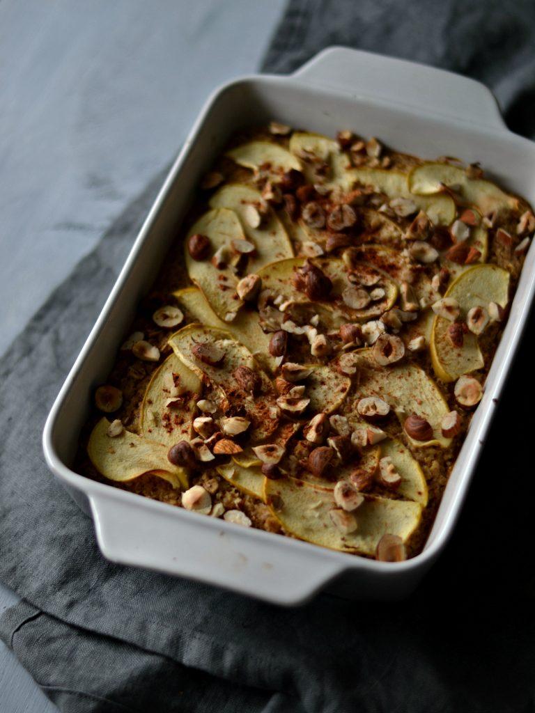Compassionate Cuisine - Receitas vegetarianas - Aveia no Forno com Maçã e Quinoa