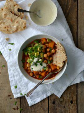 Estufado de Grão, Abóbora e Sumac + Wraps de Trigo-Sarraceno - Receita Vegetariana
