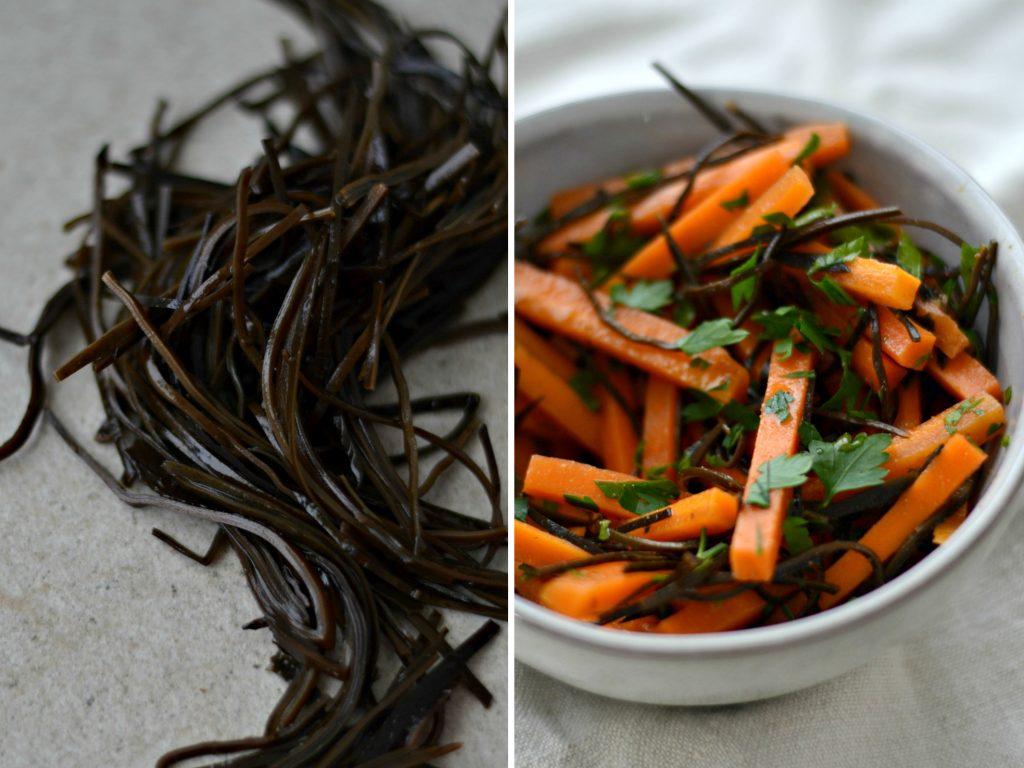 Compassionate Cuisine - Receitas vegetarianas - Salada de cenoura e algas, com molho de gengibre e lima