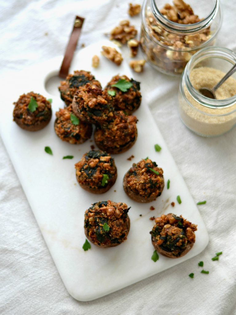 Compassionate Cuisine - Receitas vegetarianas - Cogumelos Recheados