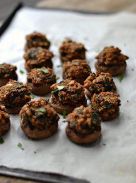 Cogumelos recheados - Receita Vegetariana