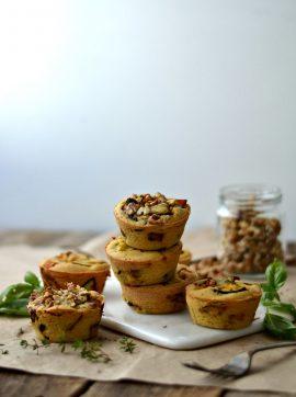 Queques de grão-de-bico e vegetais - Receita Vegetariana