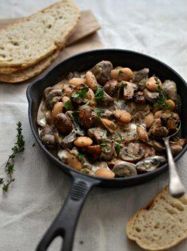 Feijoca com molho de cogumelos - Receita Vegetariana