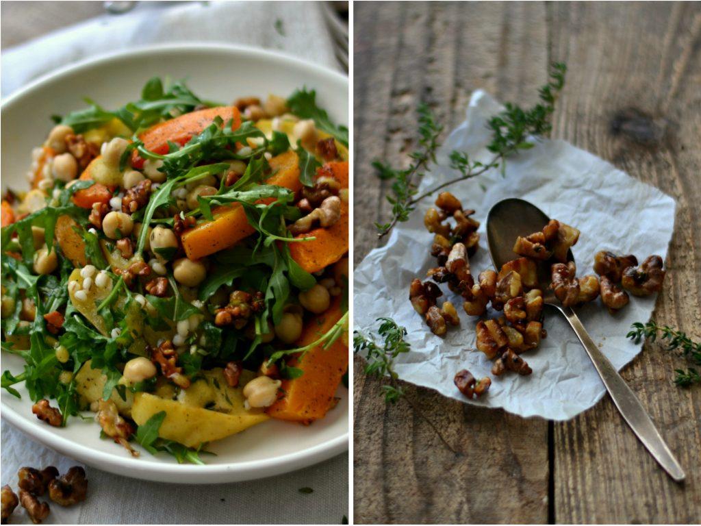 Salada de abóbora e maçã assadas, cevadinha e grão-de-bico - Compassionate Cuisine - Receitas Vegetarianas