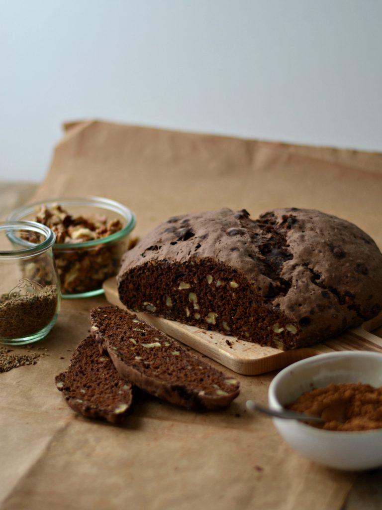 Compassionate Cuisine - Receitas vegetarianas - Pão de Centeio, Alfarroba e Nozes