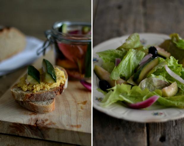 """Compassionate Cuisine - Receitas vegetarianas - Pickles """"rápidos"""" de pepino e cebola"""