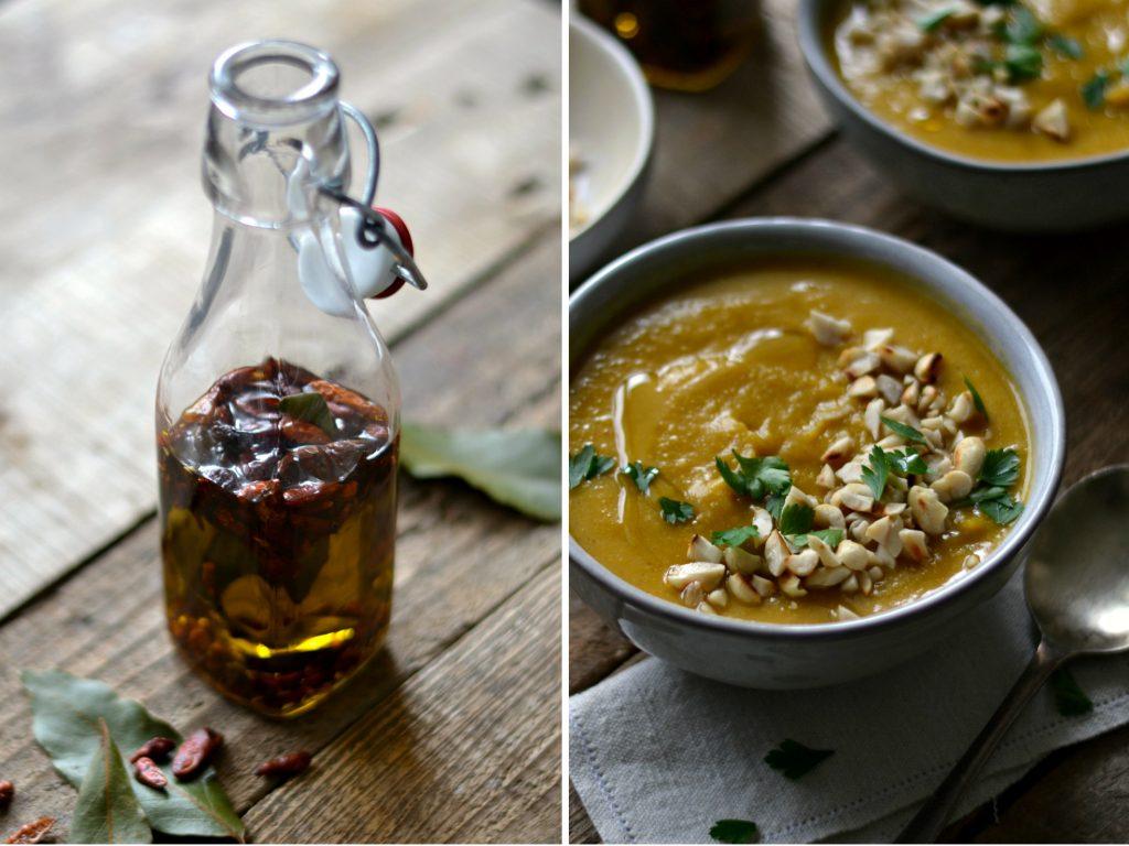 Sopa de Lentilhas e Abóbora, com Azeite Aromatizado - Compassionate Cuisine - Receitas Vegetarianas
