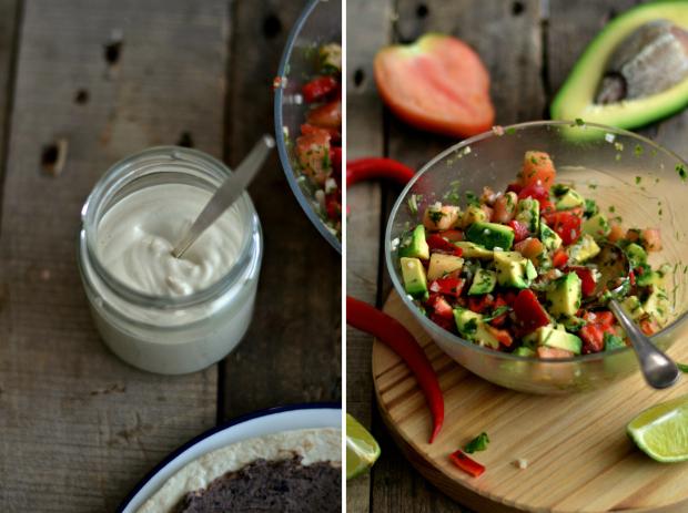 Compassionate Cuisine - Receitas vegetarianas - Tacos mexicanos de feijão preto e salsa de abacate