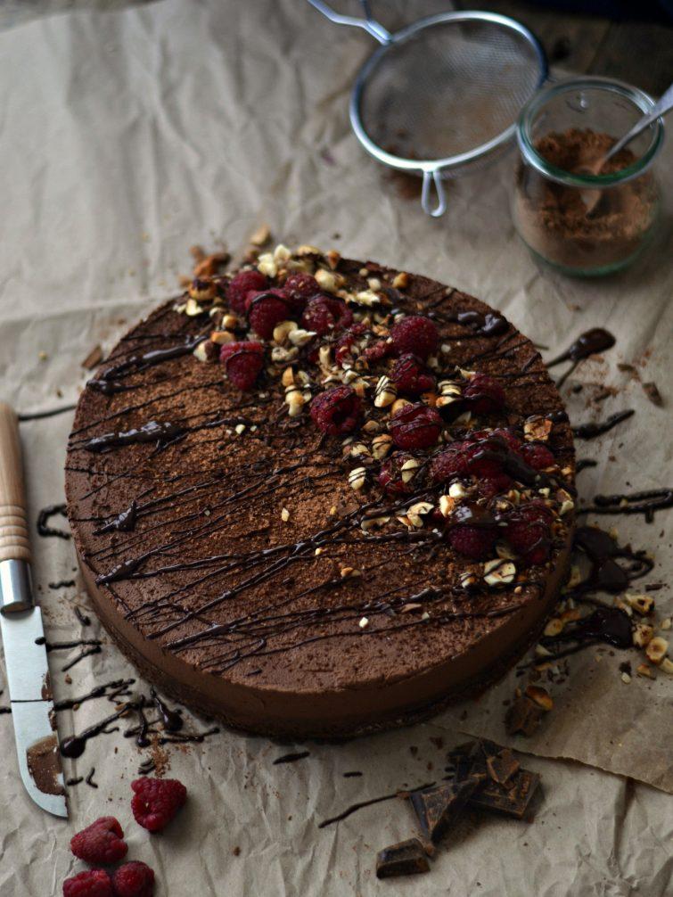 Bolo de chocolate com cobertura de mousse + Como fazer ganache