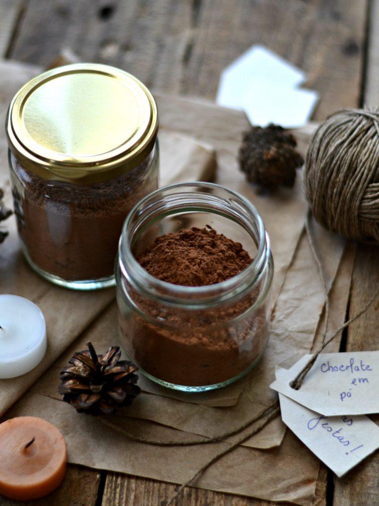 Preparado em pó de chocolate quente