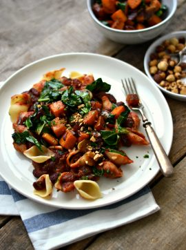 Estufado de feijão vermelho com abóbora e couve Galega - Receita Vegetariana