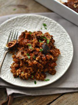 Assado de lentilhas e cevadinha - Receita Vegetariana